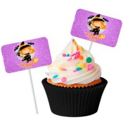 Topper Retangular para Doces Personalizado 15un Halloween