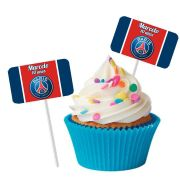 Topper Retangular para Doces Personalizado 15un Paris Saint-Germain