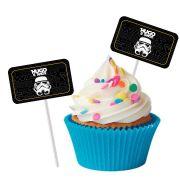 Topper Retangular para Doces Personalizado 15un Star Wars