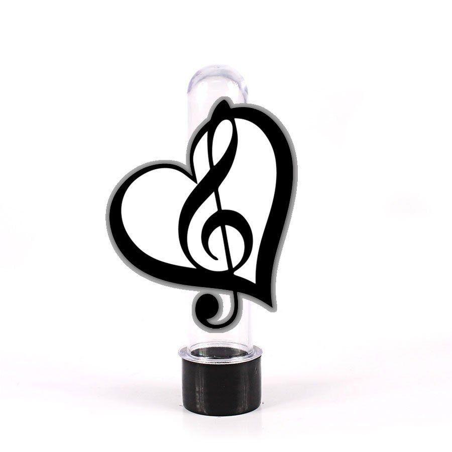 200 Lembrancinha Tubete Notas Musicais Coração