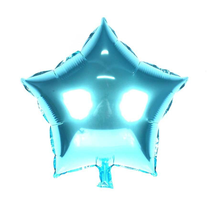 40 Balão Metalizado Estrela 48cm Azul