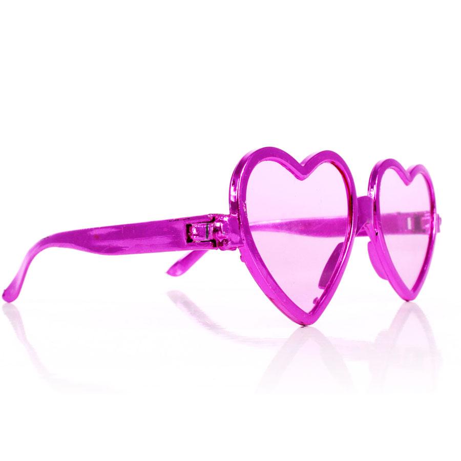Óculos Chic Coração Metalizado