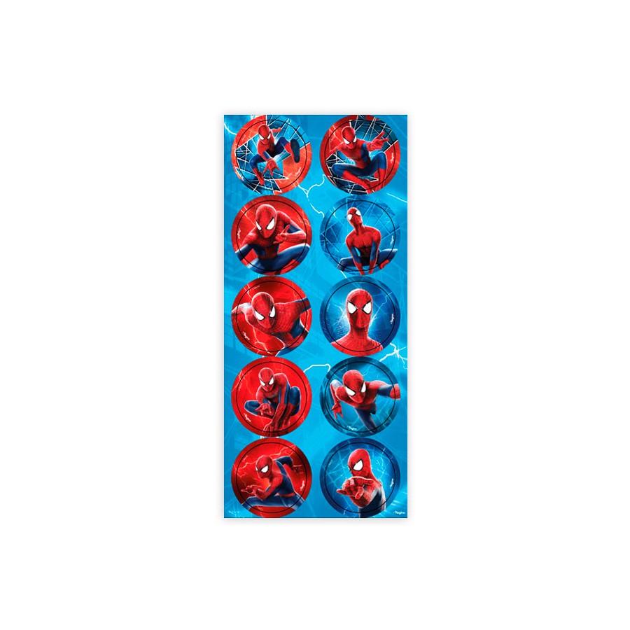 Adesivo 3 Cartelas Redondo Spider Homem Aranha