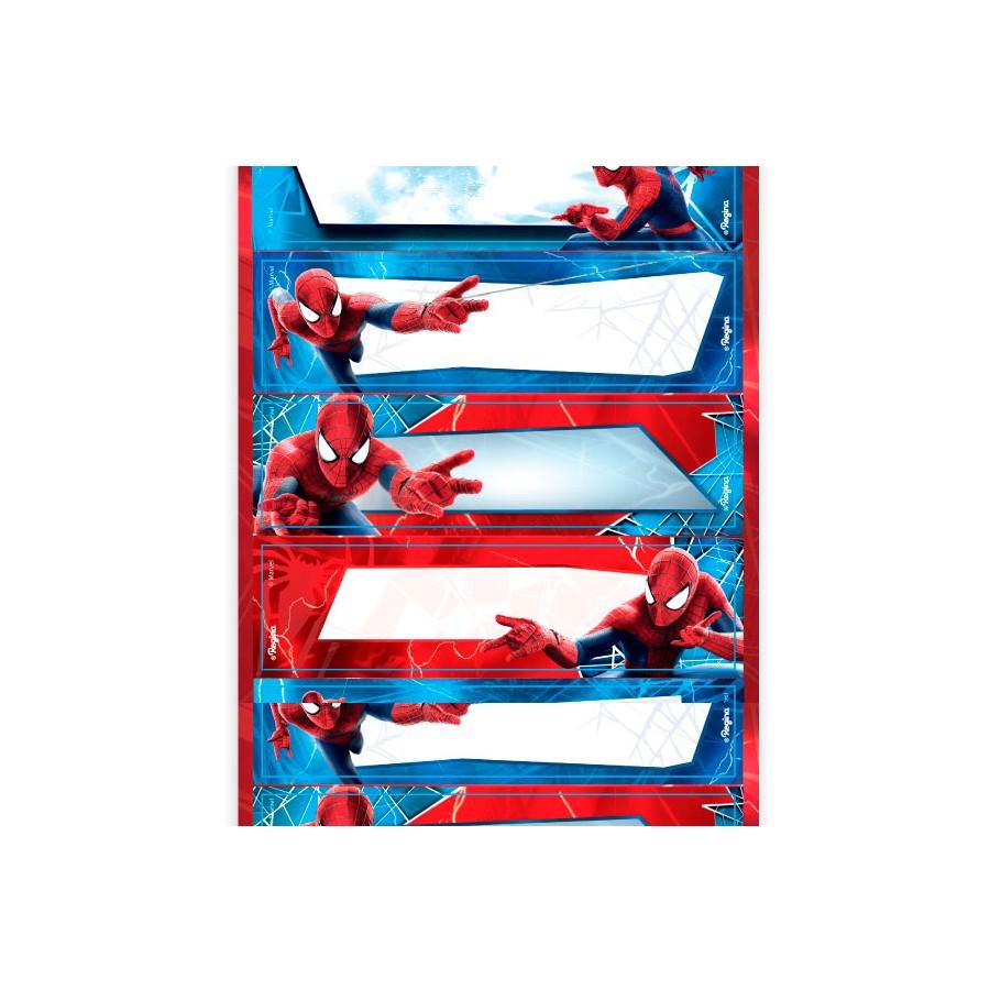 Adesivo 3 Cartelas Retangular Homem Aranha