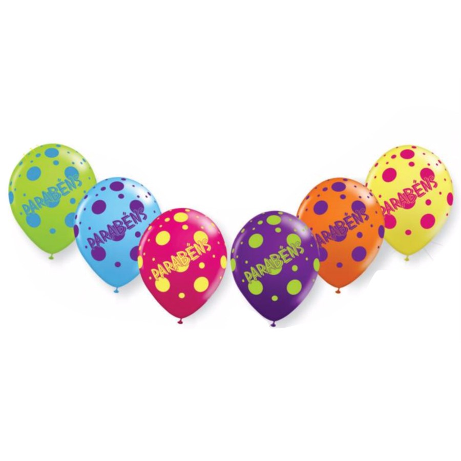 Balão Balloontech Parabéns Nº10 C/25Un