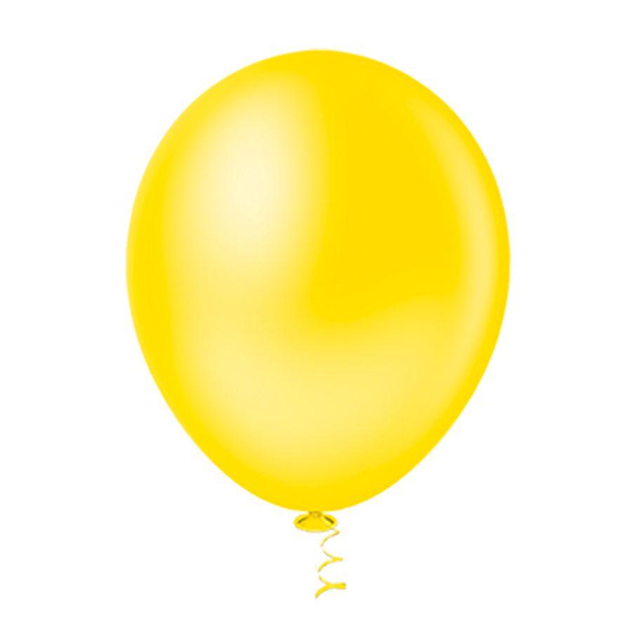 Balão Látex Amarelo 5 Polegadas - 50 Unidades