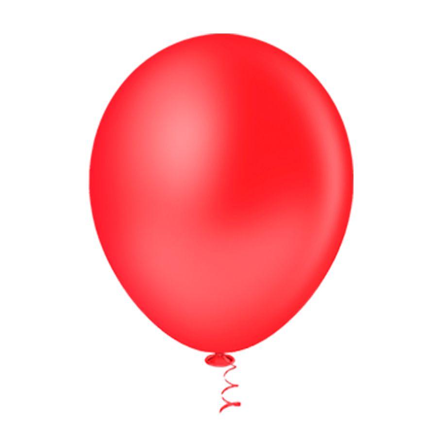 Balão Látex Vermelho 10 Polegadas - 50 Unidades