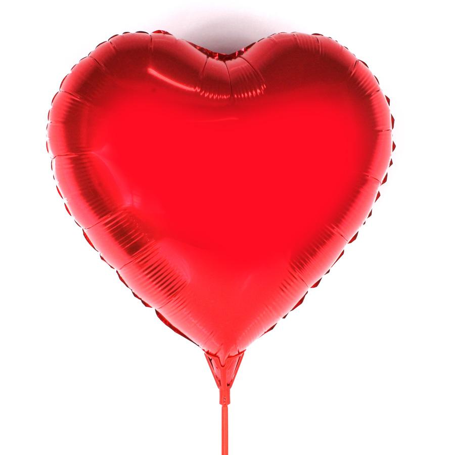 Balão Metalizado Coração Com Vareta
