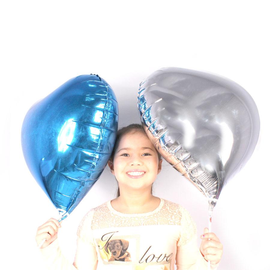 Balão Metalizado Coração Prata