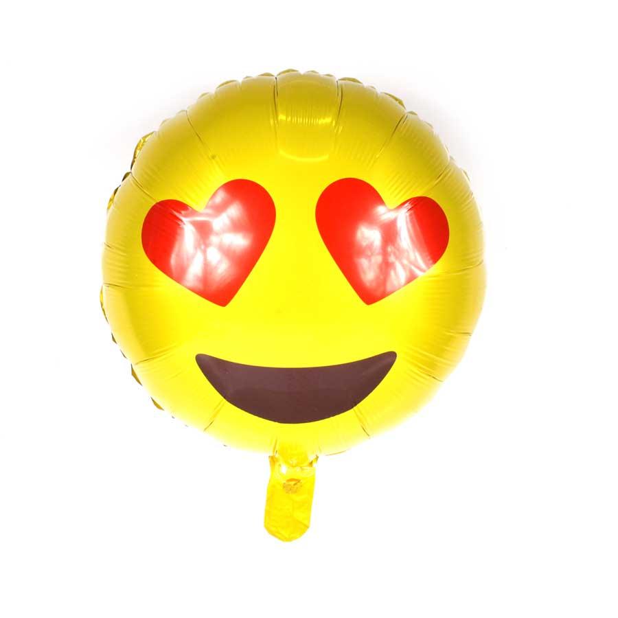 Balão Metalizado Emoji Amando 45cm