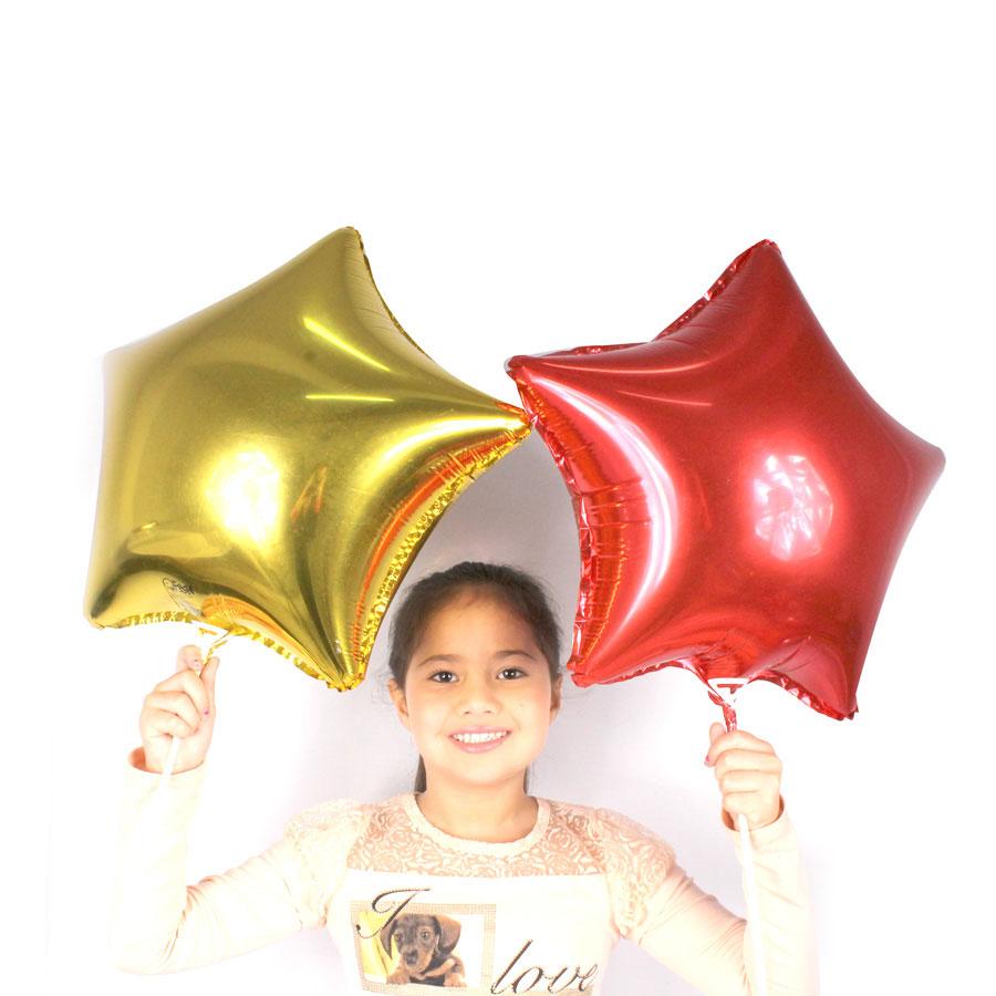 Balão Metalizado Estrela Vermelha 48Cm