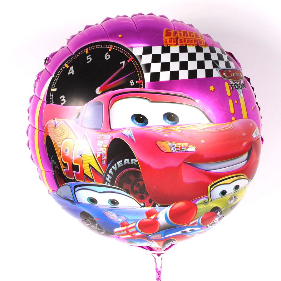 Balão Metalizado Redondo Carros