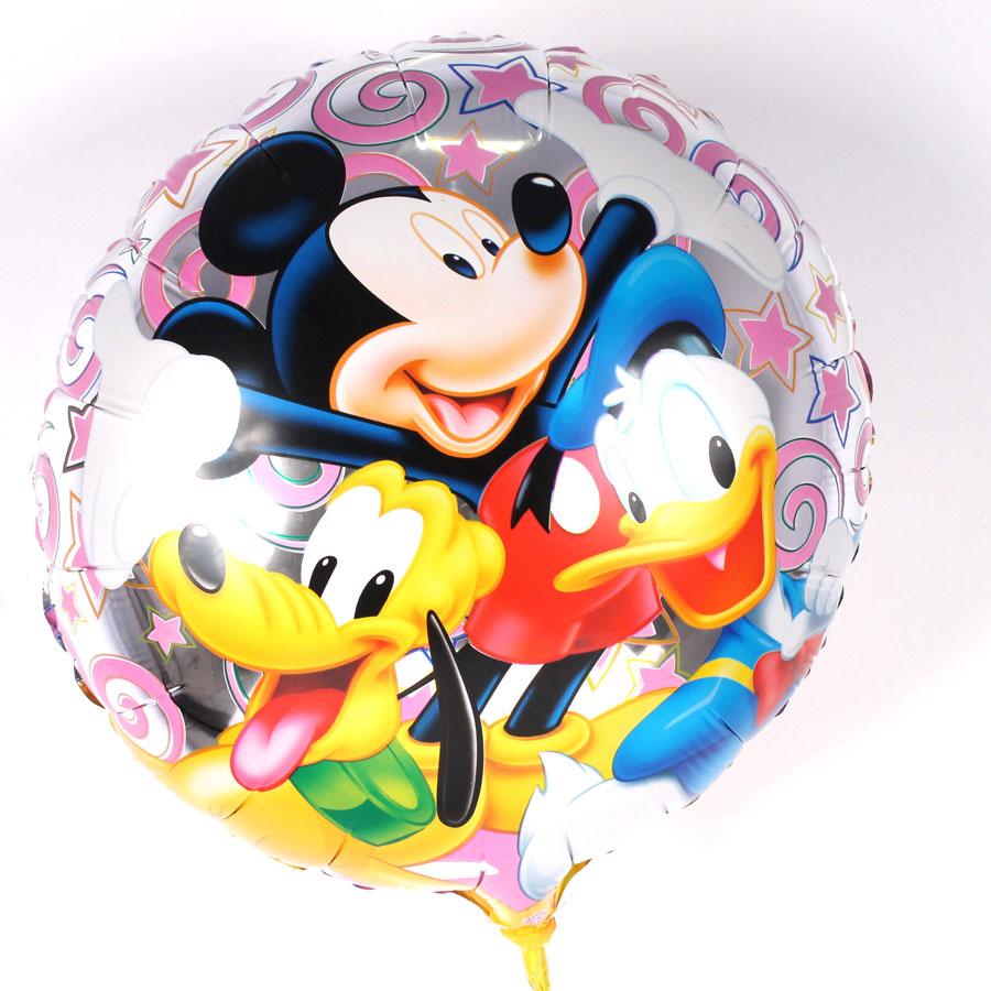 Balão Metalizado Redondo Mickey E Sua Turma