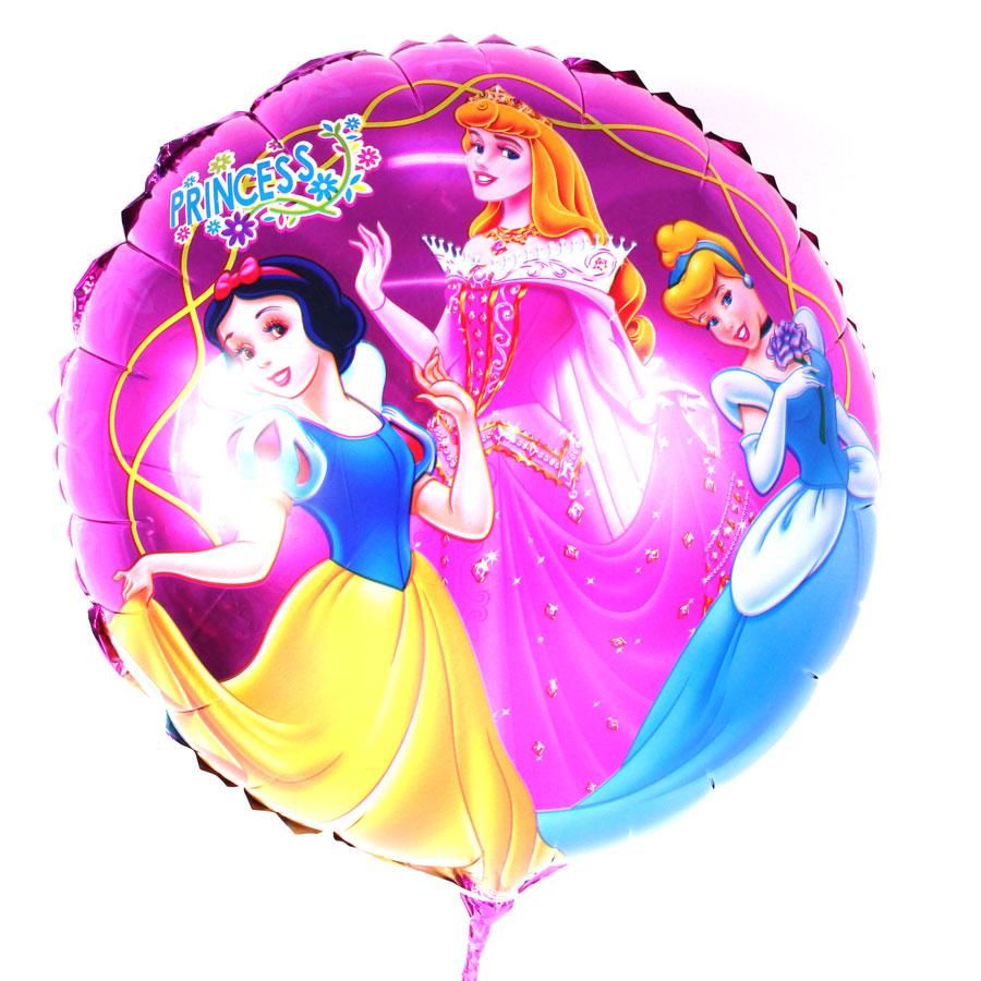 Balão Metalizado Redondo Princesas