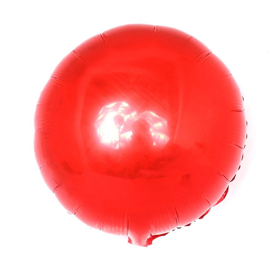 Balão Metalizado Redondo Vermelho 18