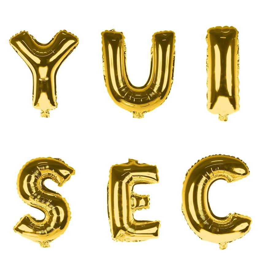 adbc8b28b61 Balão Metalizado Letras Gigante Super Shape Dourado 90cm - Aluá Festas