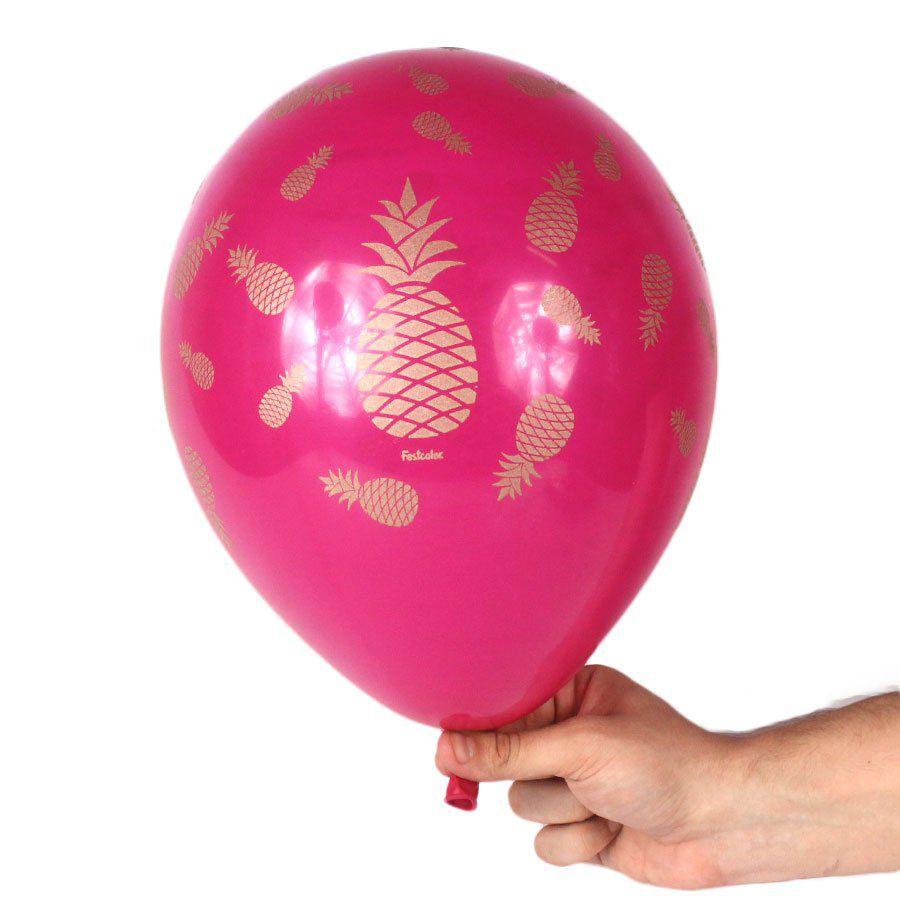 Balão Abacaxi nº9 Pink - 25 unidades