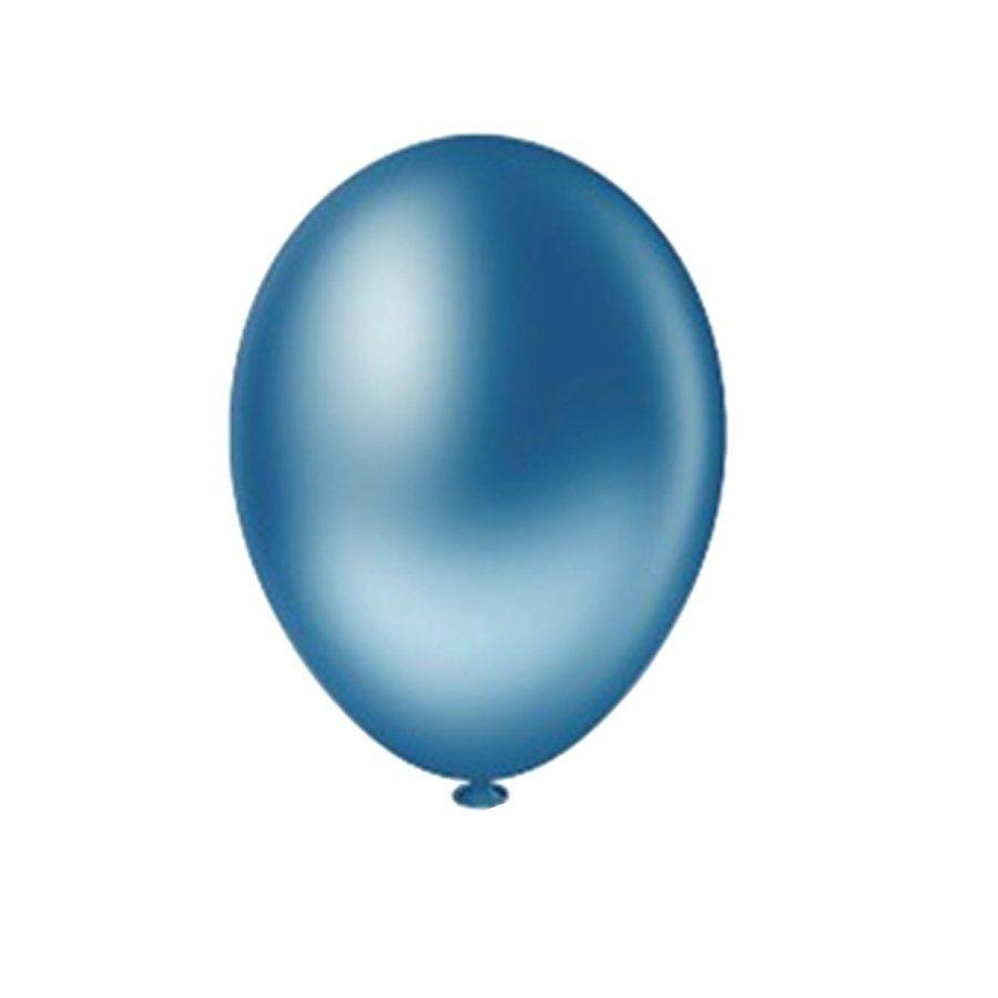 Balão Látex Azul Royal 8 Polegadas - 50 Unidades