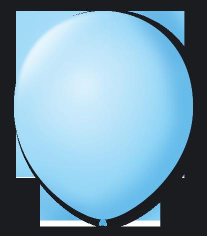 Balão São Roque Nº 8 Com 50 Unidades Azul Baby