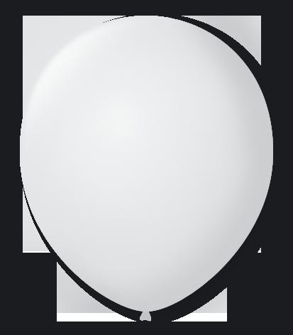 Balão São Roque Nº 8 Com 50 Unidades Branco Polar
