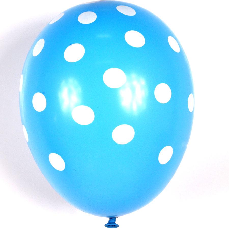 Balão São Roque Nº 9 C/25 Poá Azul C/ Branco