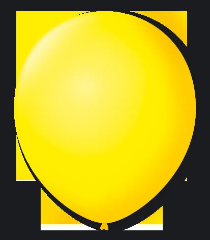 Balão São Roque Número 8 Amarelo Citrino - 50 unidades
