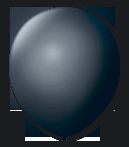 Balão São Roque Número 8 Preto Ébano - 50 unidades