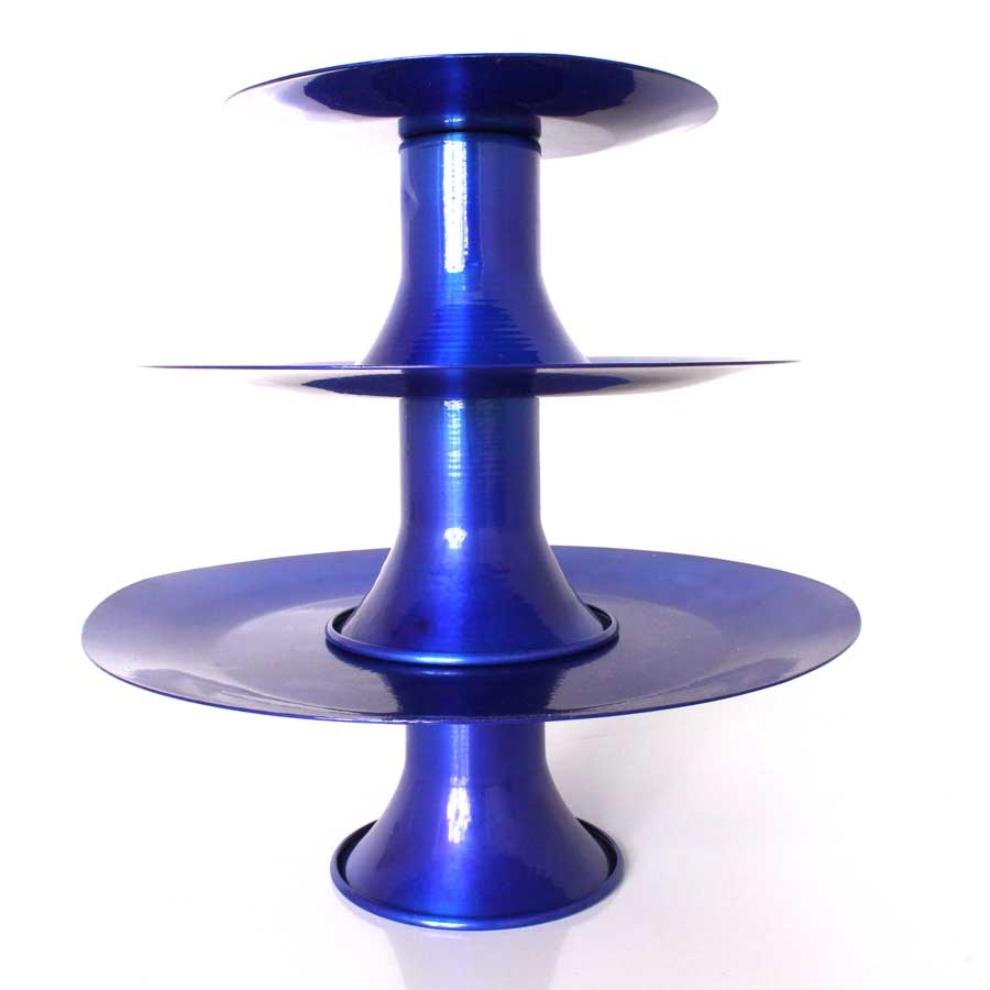 Suporte para Doces 3 Andares Azul Escuro