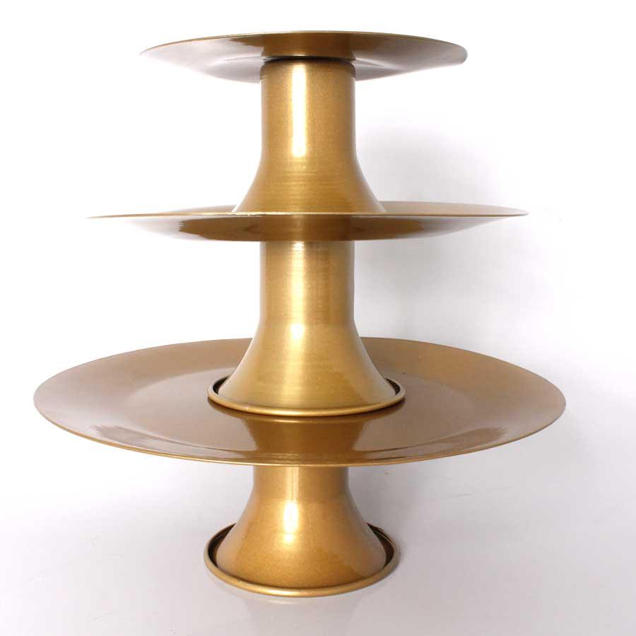 Baleiro Torre 3 Andares Dourado