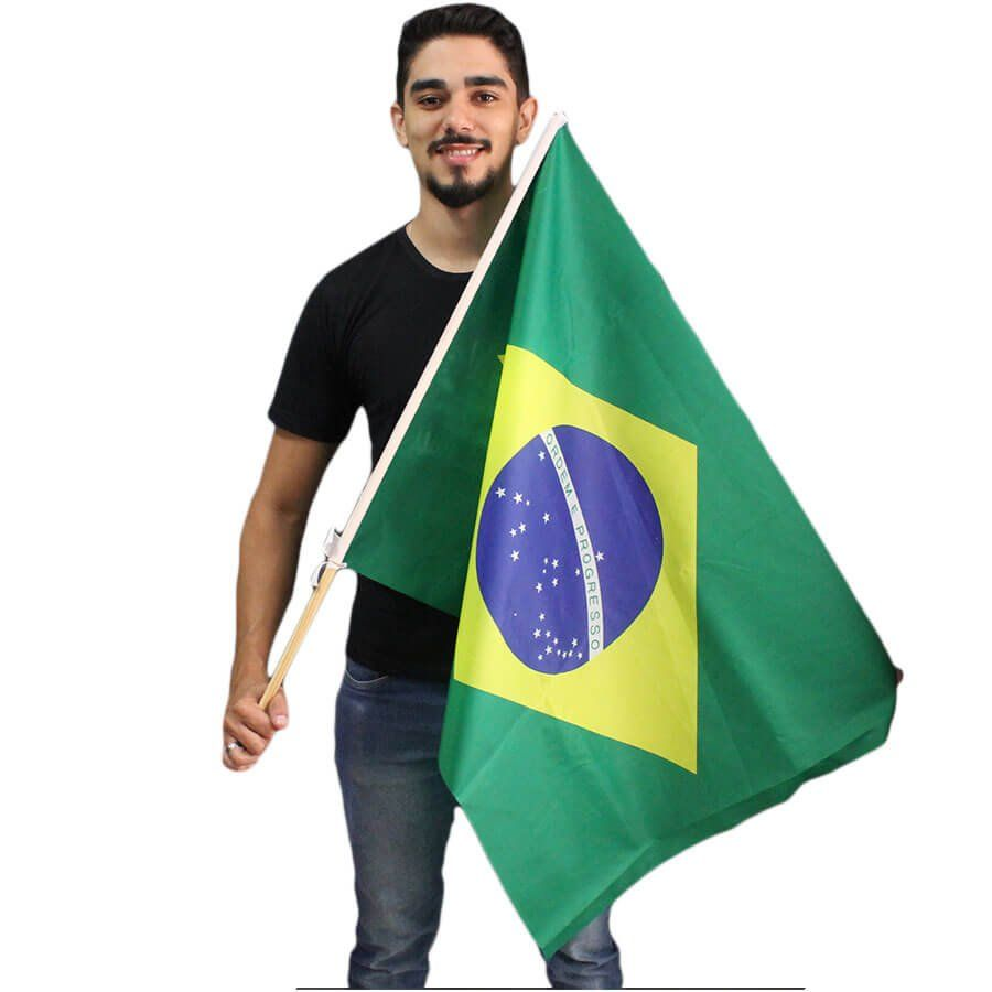 Bandeira do Brasil com Cabo Copa 2018