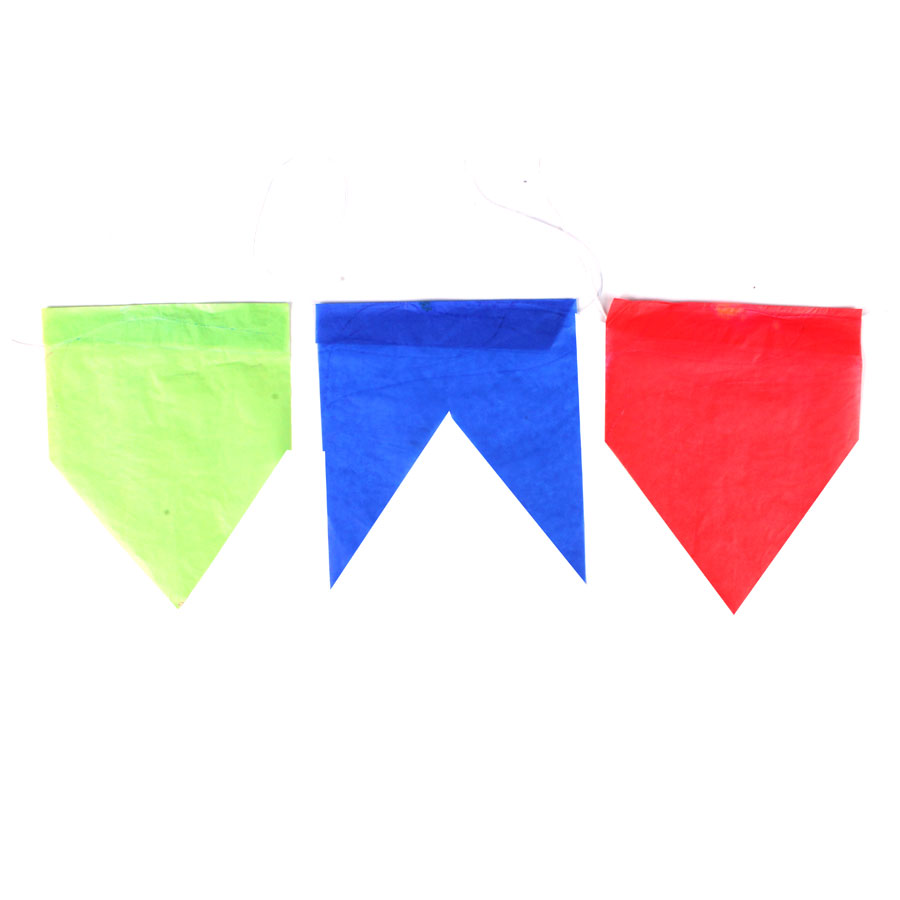 Bandeirinha de Seda para Festa Junina - 20 Metros