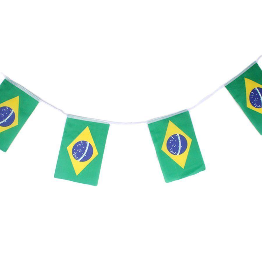 Bandeirinhas do Brasil de Tecido Poliéster Copa 2018