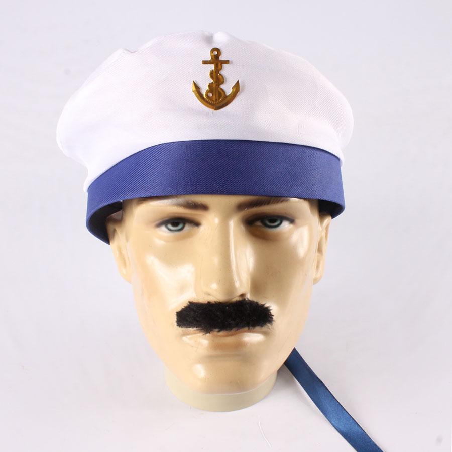 d63ecbddebaba Boina de Marinheiro com Aba e Fita Azul - Aluá Festas