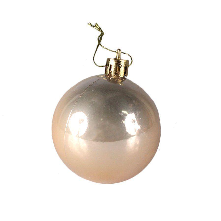 Bola de Natal Perolada 6cm com 9 unidades