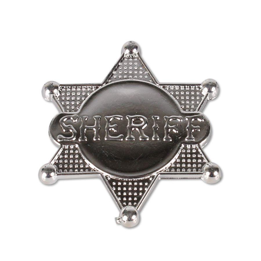 Broche Distintivo de Xerife para Fantasia