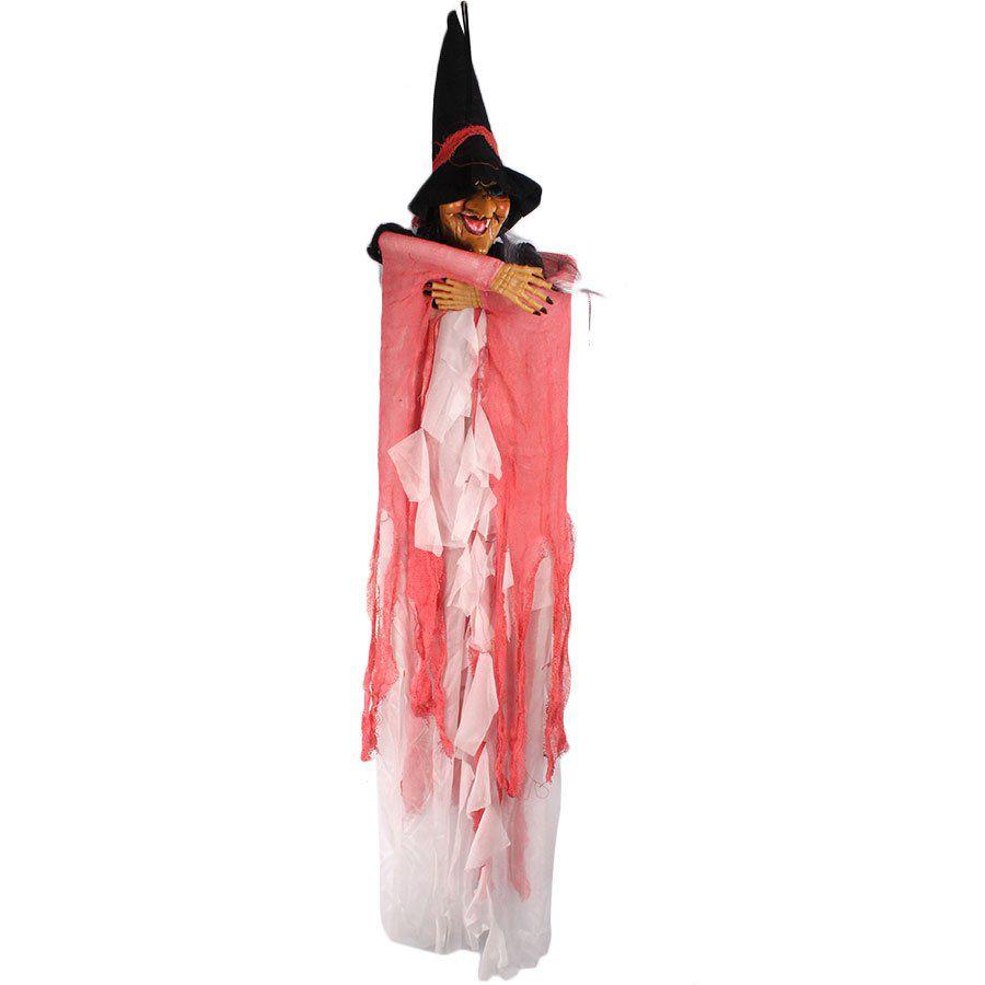 Boneca Bruxa de Halloween com Luz e Som