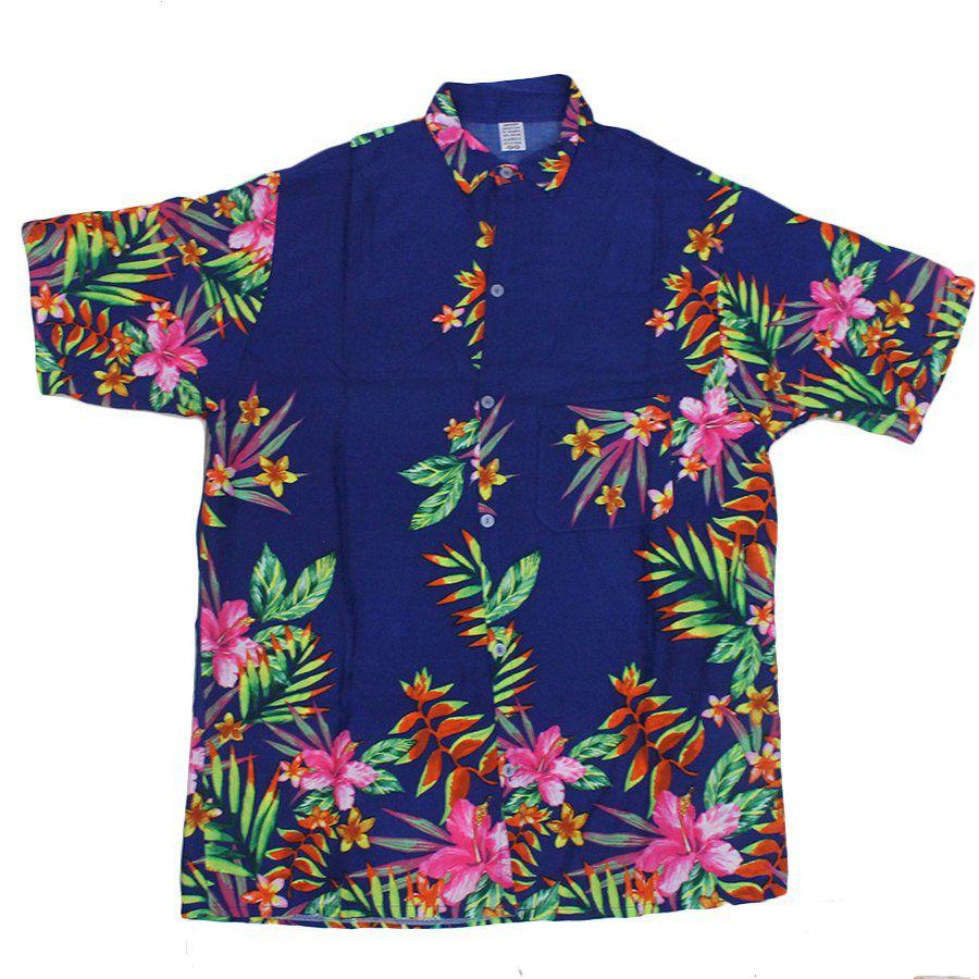 34cba24778 Camisa Havaiana com Estampas Floridas Sortidas - Aluá Festas