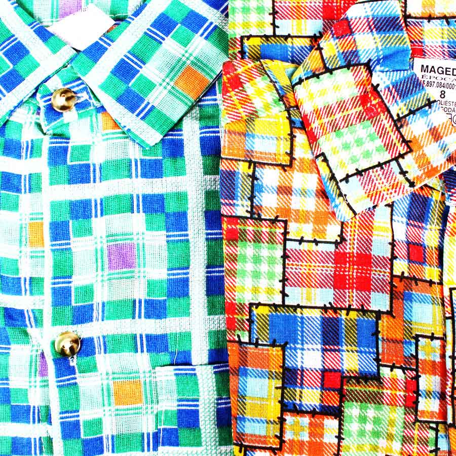 Camisa Infantil Festa Junina Manga Longa - Vários Tamanhos