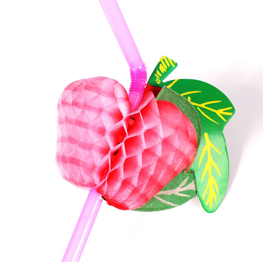 Canudo Frutas Sortidas para Drinks - 12 Unidades