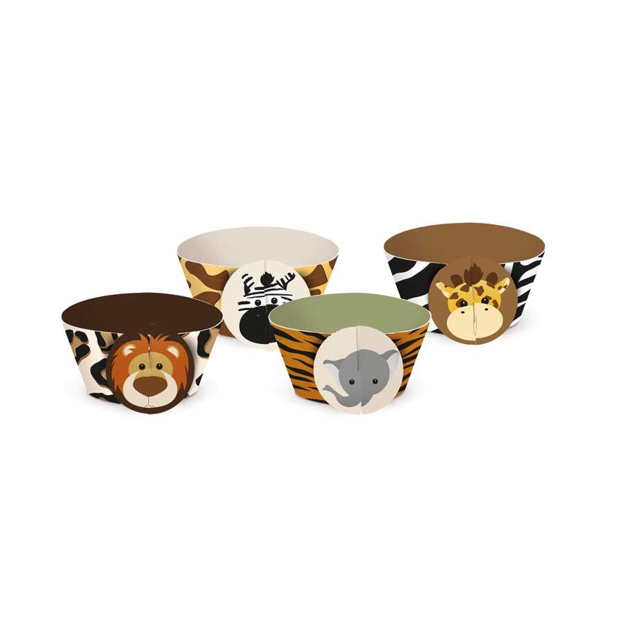 Capa Para Cupcake Safari 12 Unidades