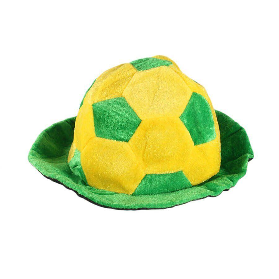 Chapéu Cartola Bola Verde e Amarela Torcida Brasil