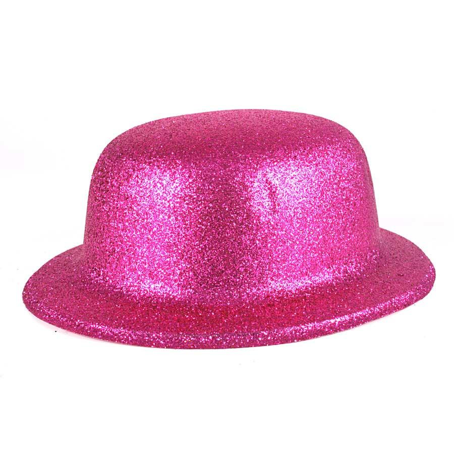 Chapéu Coquinho de Plástico com Glitter Pink