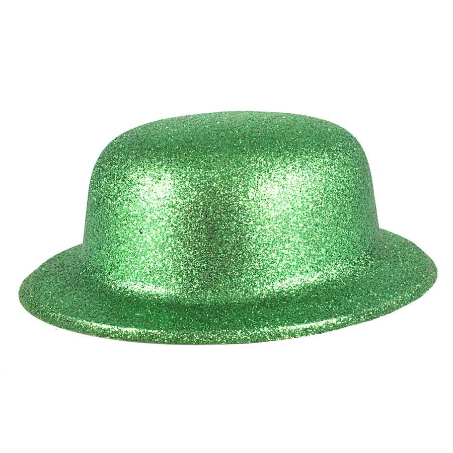Chapéu Coquinho de Plástico com Glitter Verde