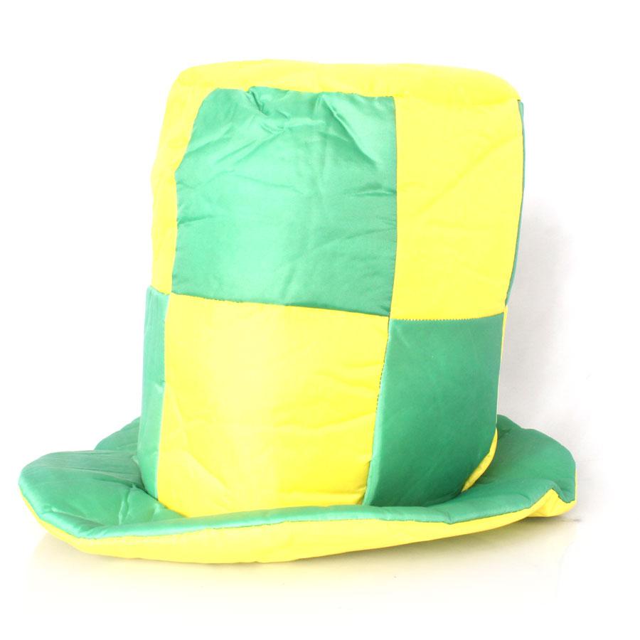 Cartola Quadriculada Verde e Amarela