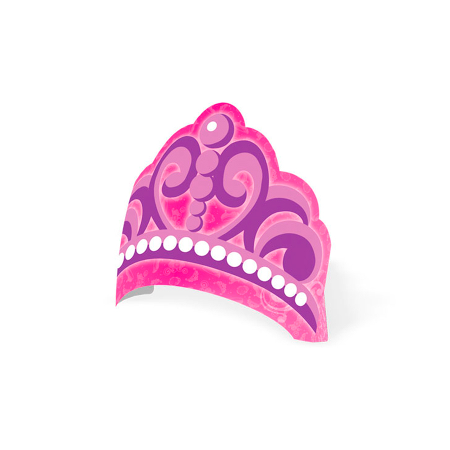 Chapéu Aniversário Coroa Sofia 8Un