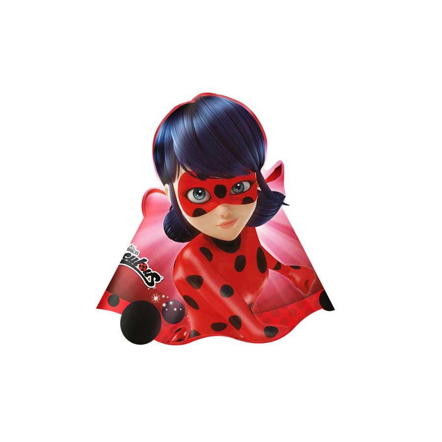 95b8396764241 Chapéu Aniversário Miraculous Ladybug com 8un - Aluá Festas