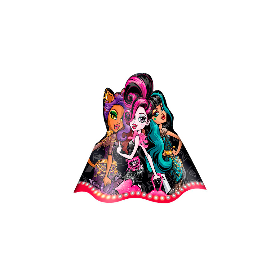 Chapéu Aniversário Monster High 8Un