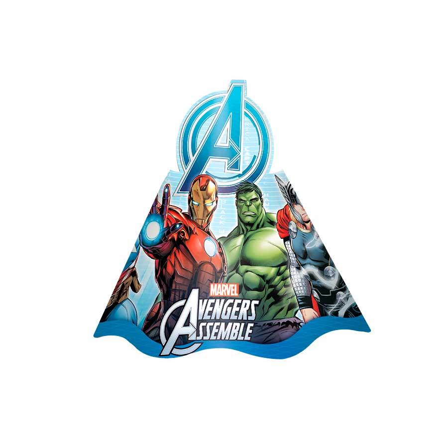 10e6a9ecacb27 Chapéu Aniversário Vingadores Avengers 8Un - Aluá Festas