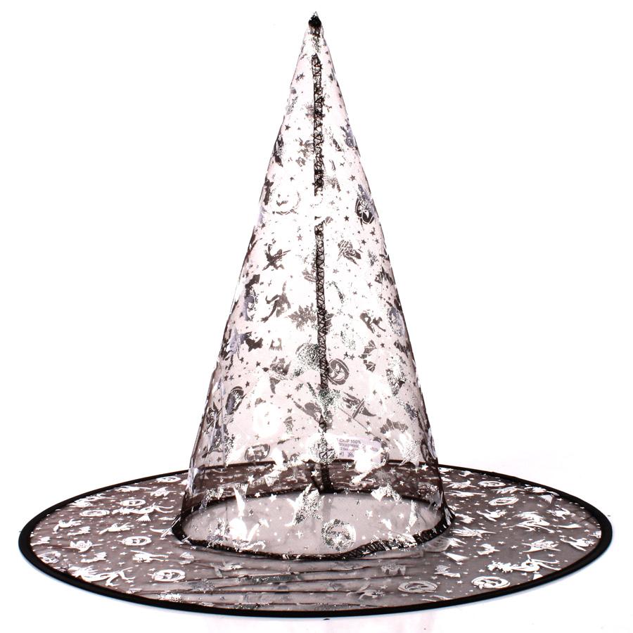 Chapéu de Bruxa Halloween Transparente