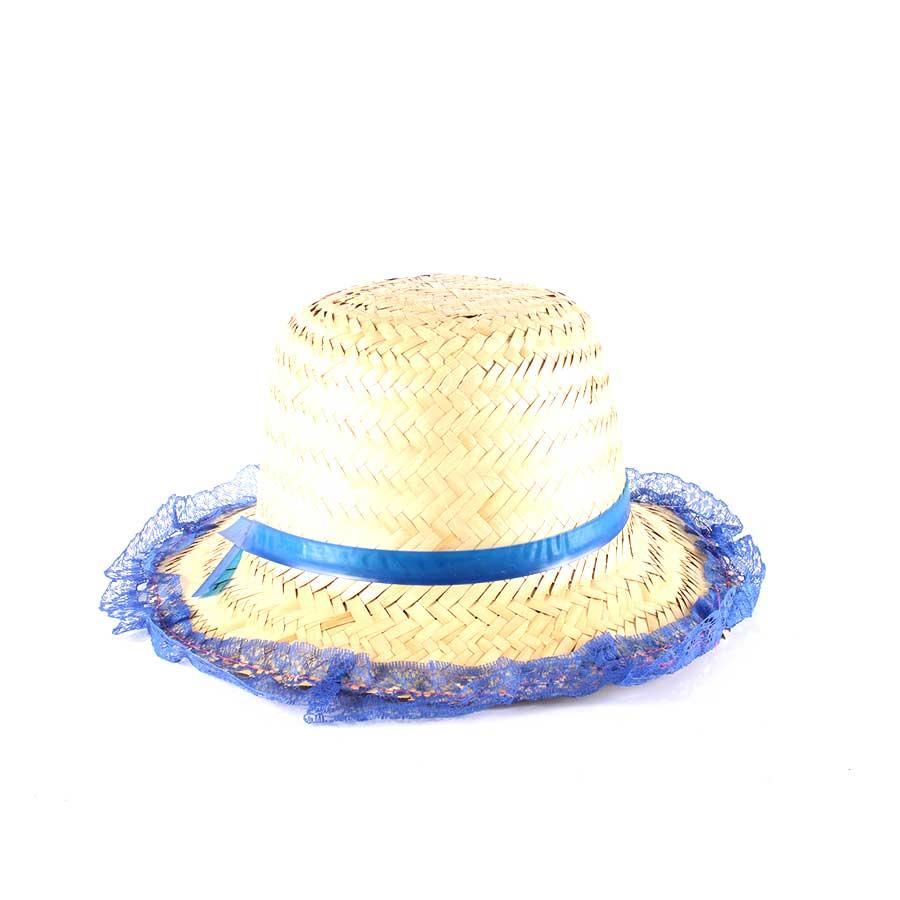 Chapéu de Palha com Renda Festa Junina Feminino - Sortidos - Aluá Festas d026f41d961